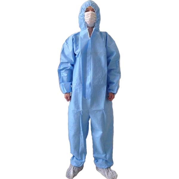 Disposable PP and SMS Protective Coverall Blue