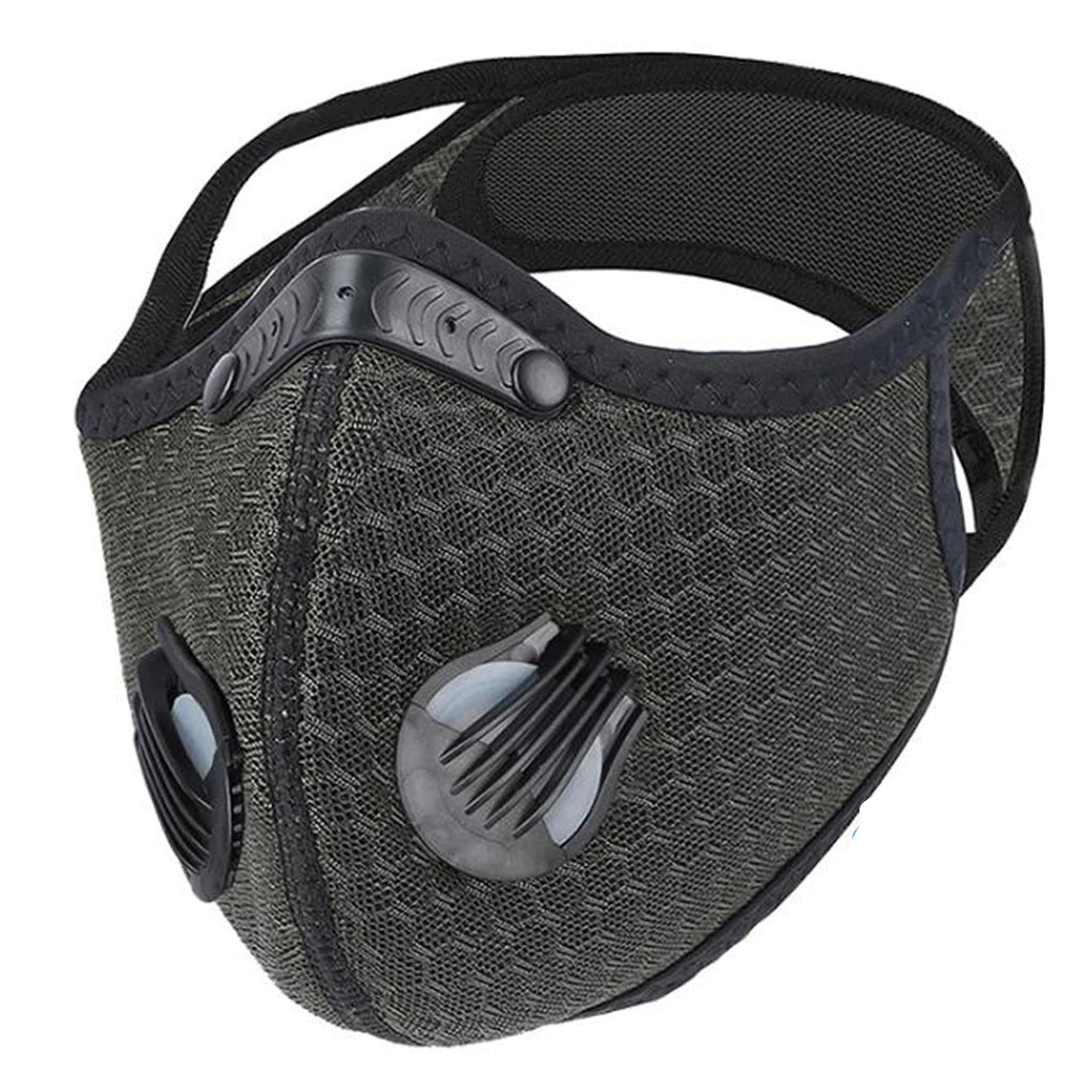 Carbon Filter Folding Face Respirator Masks DarkGrey