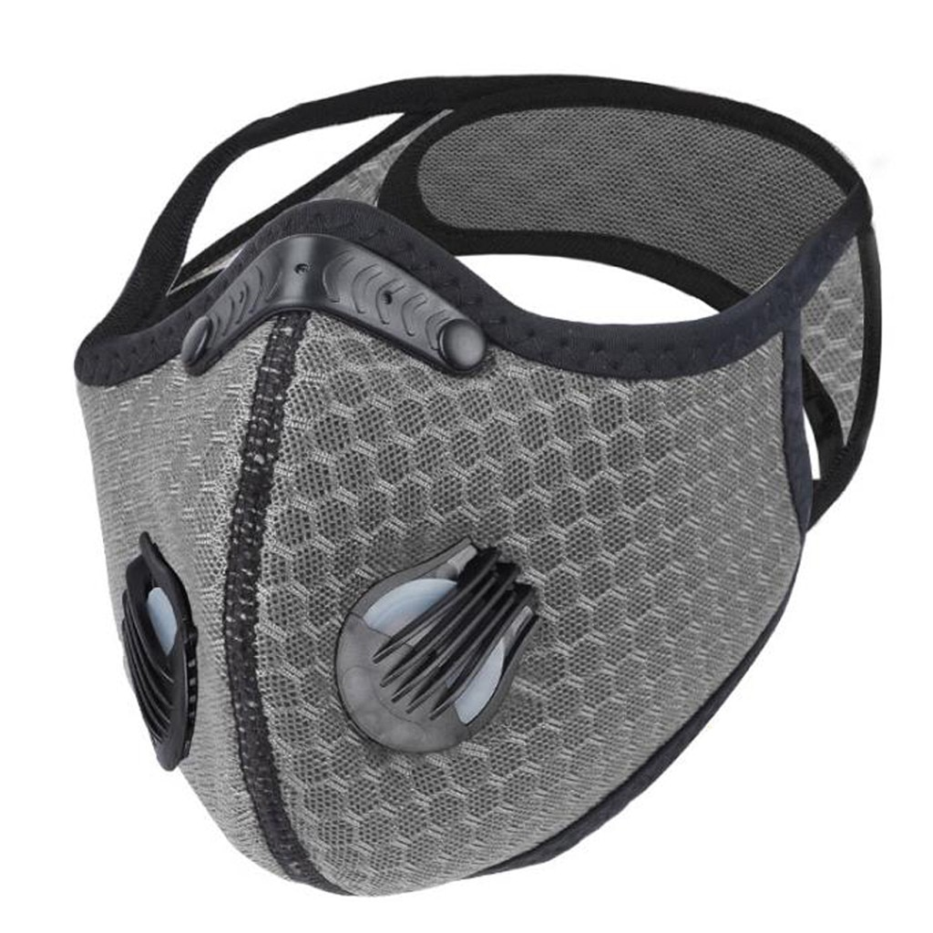 Grey Colorful Carbon Filter Folding Face Respirators Masks