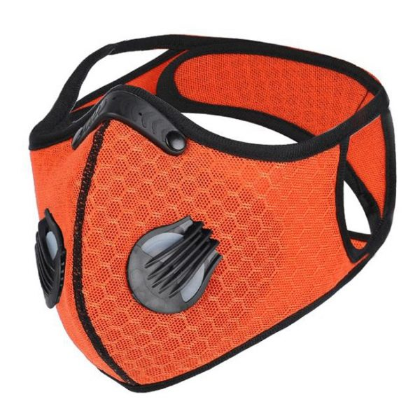 Orange Colorful Carbon Filter Folding Face Respirators Masks