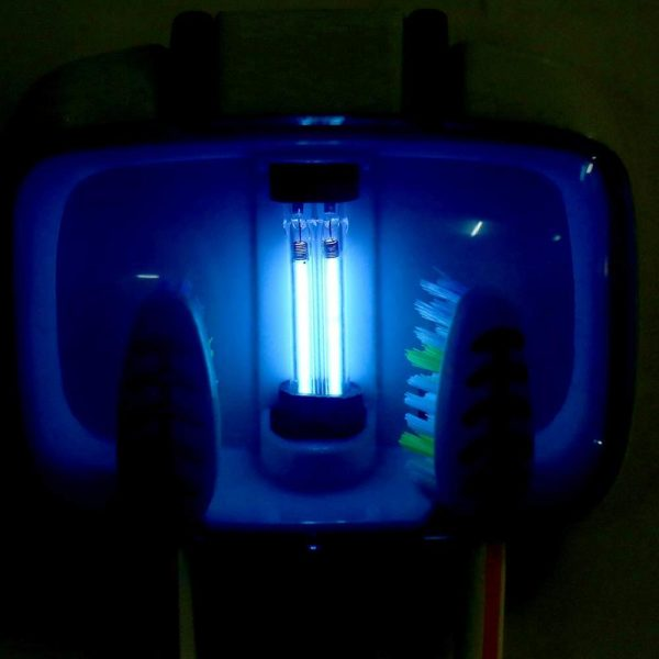 Mini UV Toothbrush Sterilizer For 2 Toothbrushes